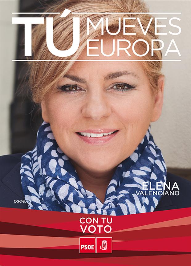 Elena Valenciano en el cartel de las elecciones europeas de 2014