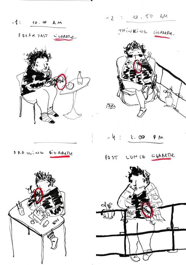 Ilustración de la serie titulada Smoke