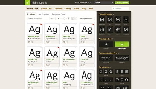 Adobe – Typekit