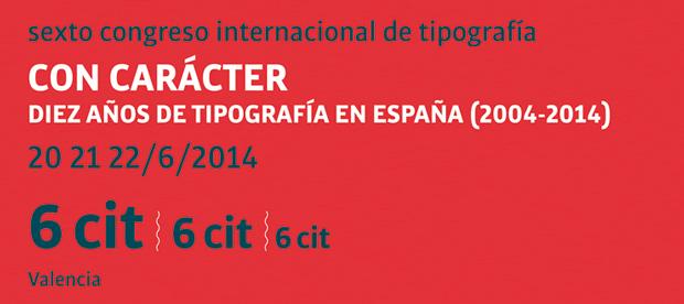 Programa del Congreso Internacional de Tipografía 2014 –  6º Cit