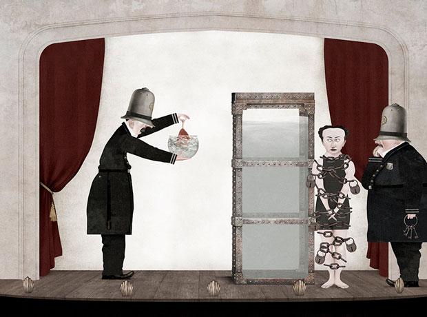 Houdini – ilustraciones Iban Barrenetxea