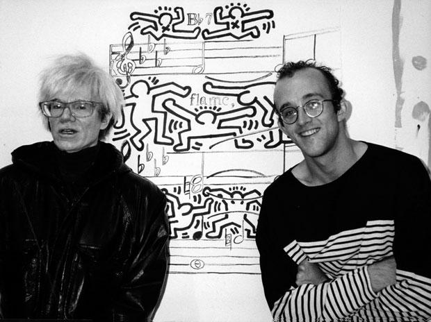 Keith Haring y Andy Warhol