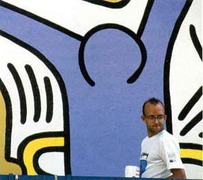 Keith Haring – mural Tuttomondo