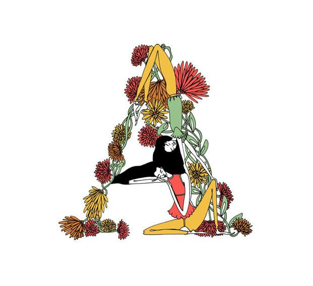 Lara Costafreda alfabeto ilustrado Beautiful Dreamers