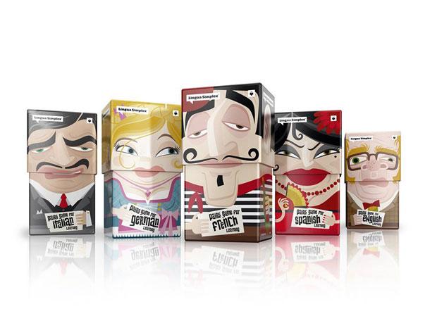 Lingua Simplex, divertido y esterotipado packaging de Amelung Design