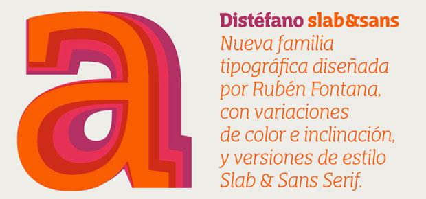 Rubén Fontana – tipografía Distéfano