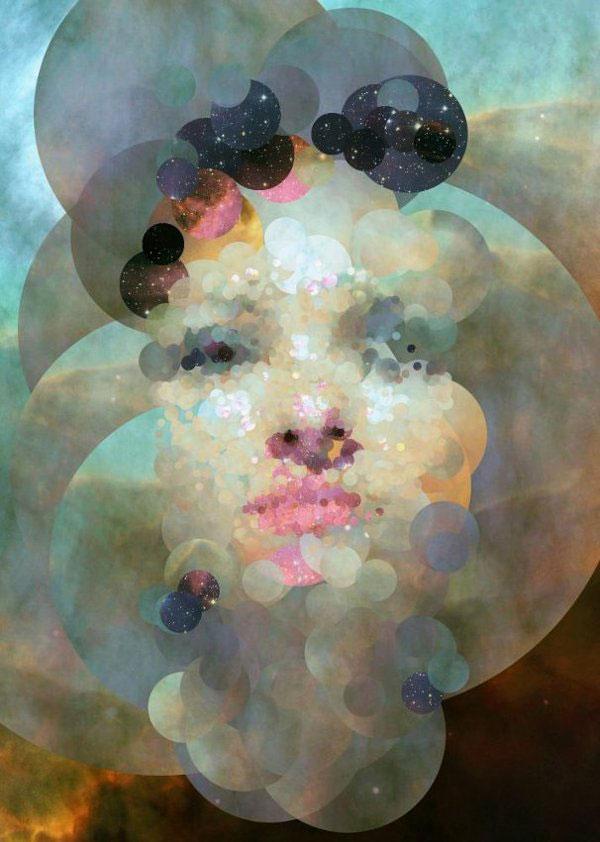 Sergio Albiac – retrato en processing  – Stardust