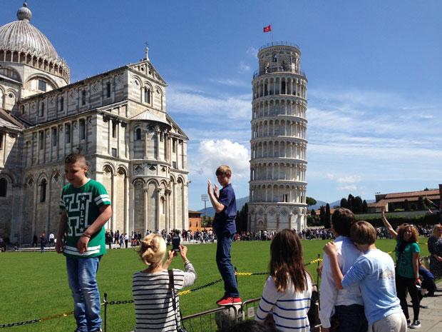 En busca del mural pop de Keith Haring en Pisa