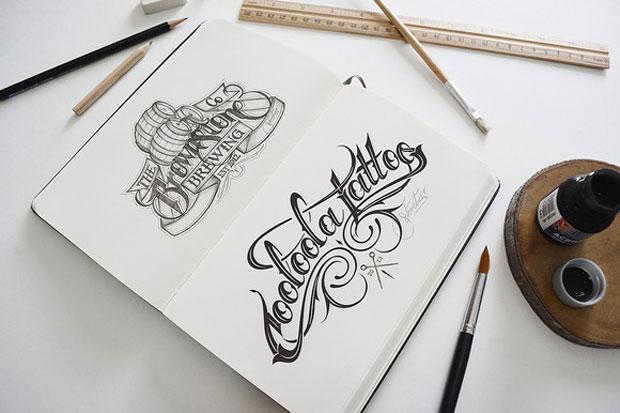 artist sketch - book - mock-up