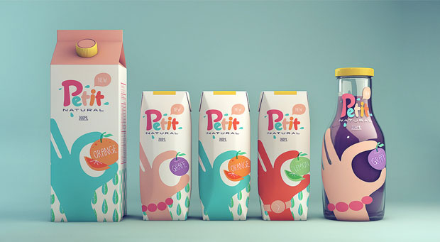 Petit Natural Juice – diseño de packaging de Isabela Rodrigues