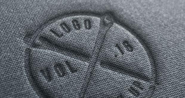 Mockup de logo sobre lino