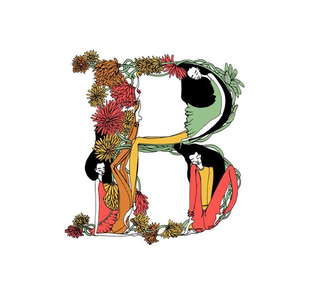 alfabeto ilustrado Beautiful Dreamers