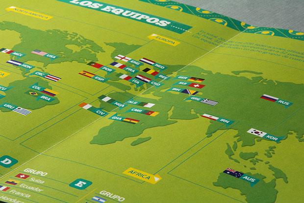 Equipos Copa del Mundo Brasil 2014 –  cartel infografía