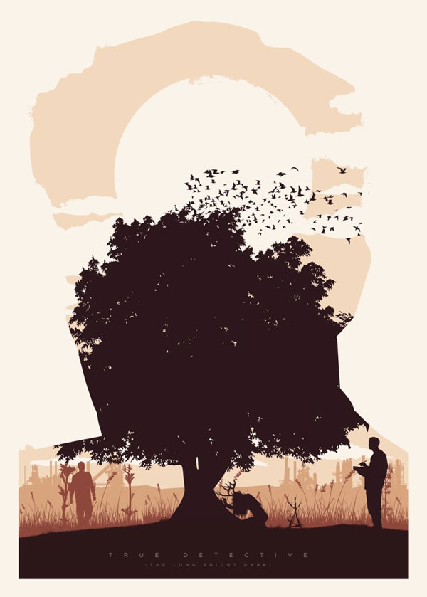 Homenaje ilustrado a True Detective – cartel episodio 1