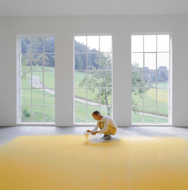 'Polen' instalación de Wolfgang Laib – artista conceptual alemán