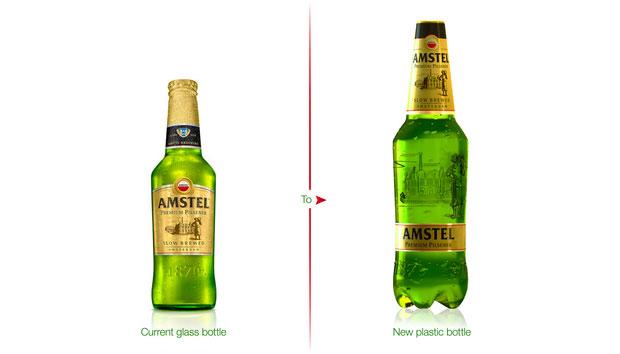 Amstel Premium Pilsener – botella 1 litro – packaging diseño de PET  Engineering