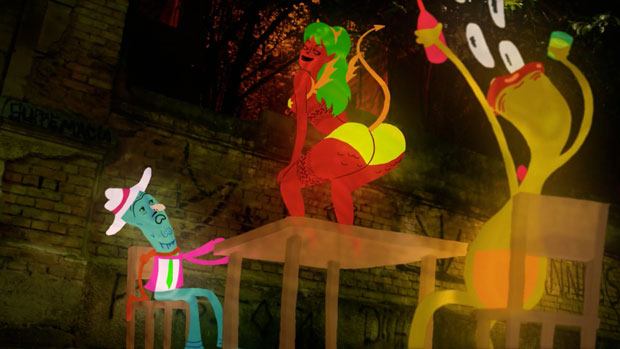 Caveirão – corto de animación en técnica mixta de Guilherme Marcondes