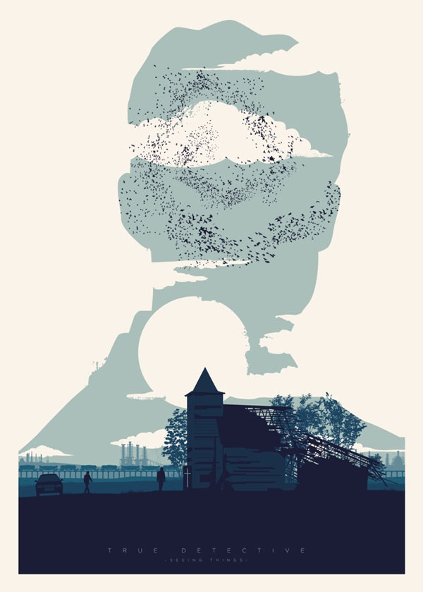 Homenaje ilustrado a True Detective – cartel episodio 2