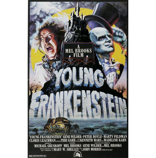 A. Goldschmidt diseñador del cartel de Young Frankenstein