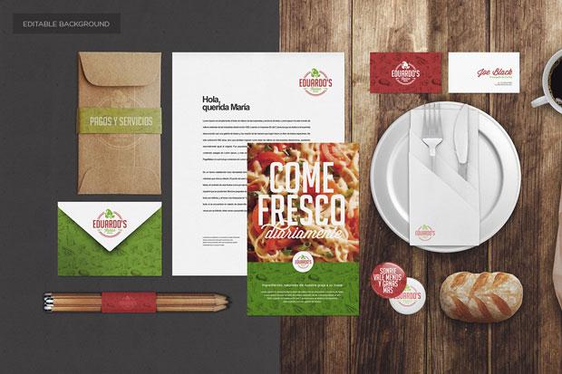 MockUp – identidad corporativa para restaurantes y alimentación