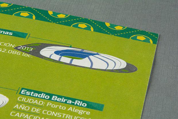 Estadios Mundial 2014 –  cartel infografía