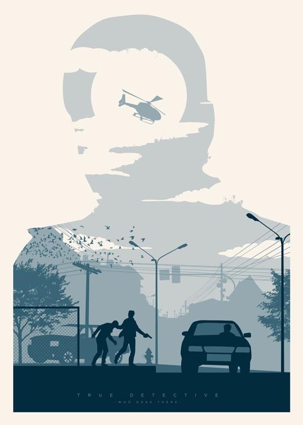 Homenaje ilustrado a TrueDetective –  cartel de Javier Vera