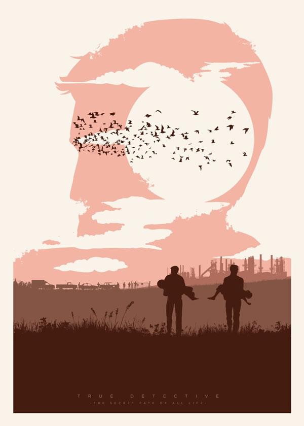 True Detective – cartel ilustrado por Javier Vera