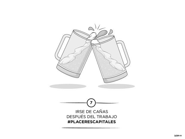 #placerescapitales – Irse de cañas después del trabajo –