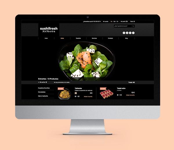 11- branding de marca de sushi a domicilio para gourmets
