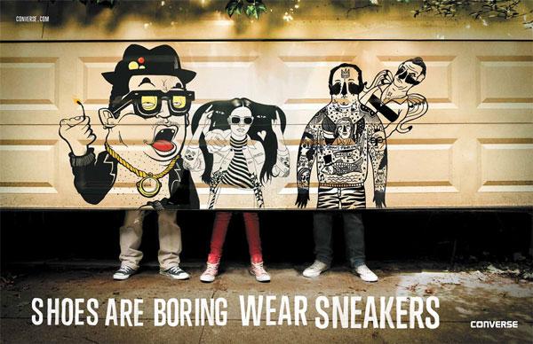 Ilustración para campaña de Converse