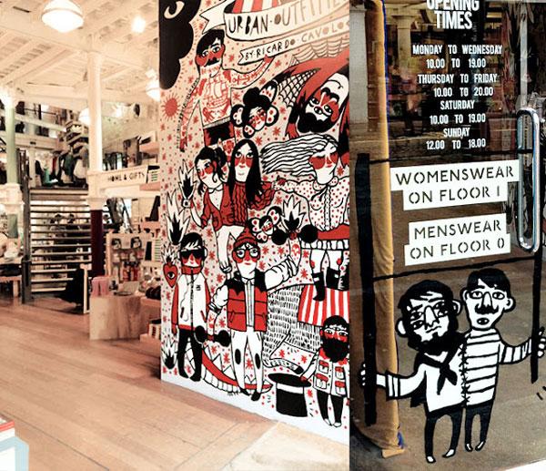 Ilustración para tienda