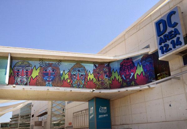 Ilustración mural edificio
