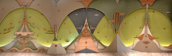 Pieza mural diseñada por Tooco