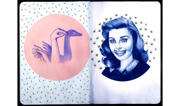 Ilustración de la serie About mutants who collect things
