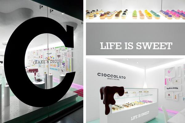 Diseño de identidad y diseño de interior de CIOCCOLATO