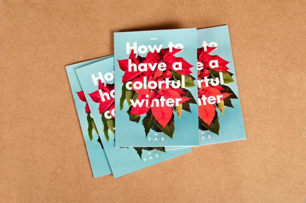 Diseño editorial para Colorful Winter