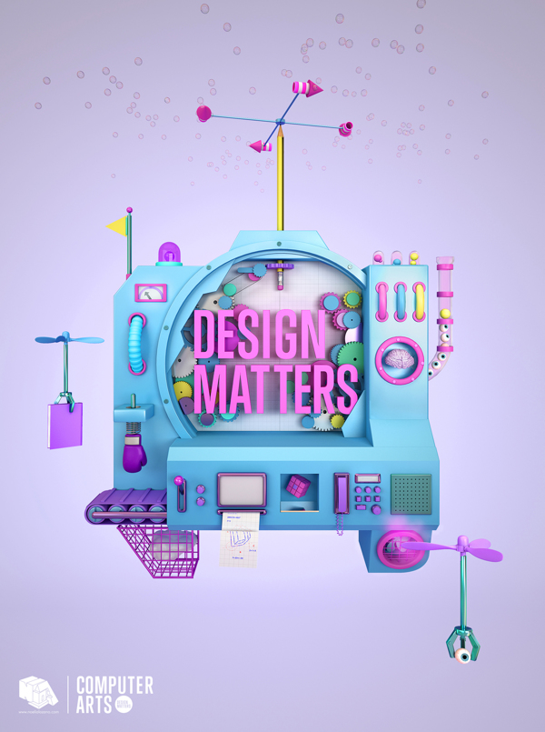 Diseño titulado DESIGN MATTERS COMPUTER ARTS