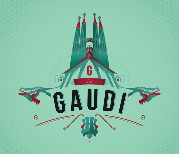 Ilustración titulada Gaudí Barcelona