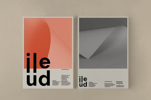 Diseño de identidad corporativa y aplicaciones para Ileud
