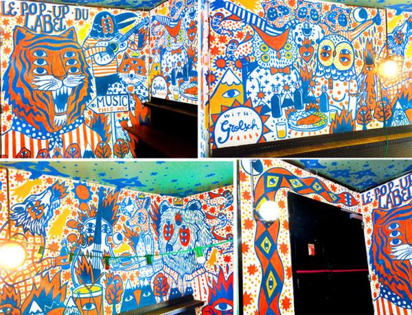 Ilustración mural para exposición