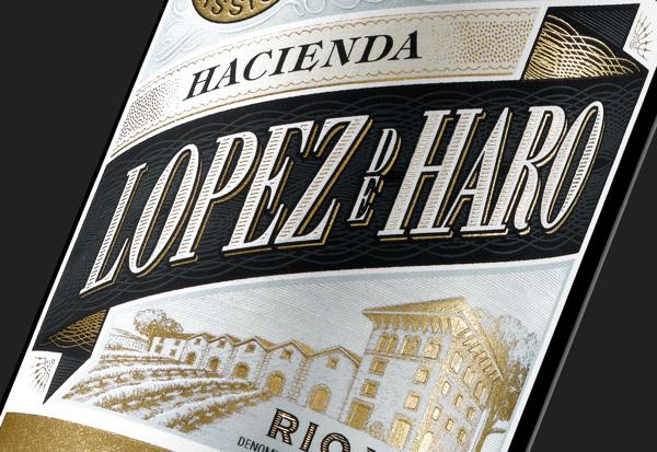 Diseño de etiqueta para López de Haro