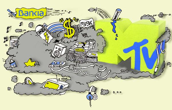 Ilustración para la tarjeta de crédito Bankia - MTV