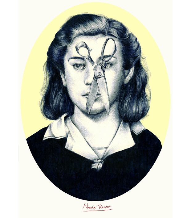 ilustración de la serie Piedra, papel y Tijeras