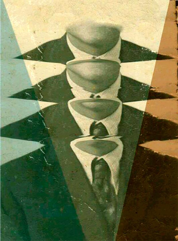 Fotomontage de la serie titulada Preámbulos sobre lo privado