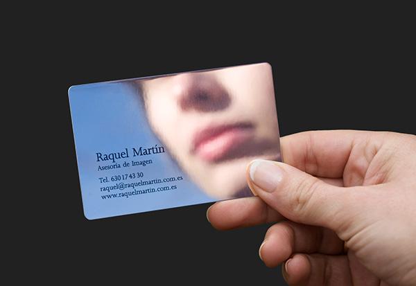 Diseño de tarjeta para Raquel Martín