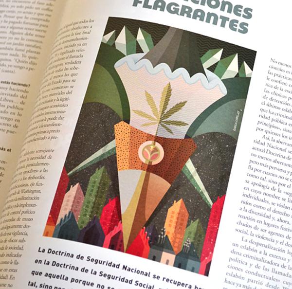 Ilustración para la revista THC Magazine