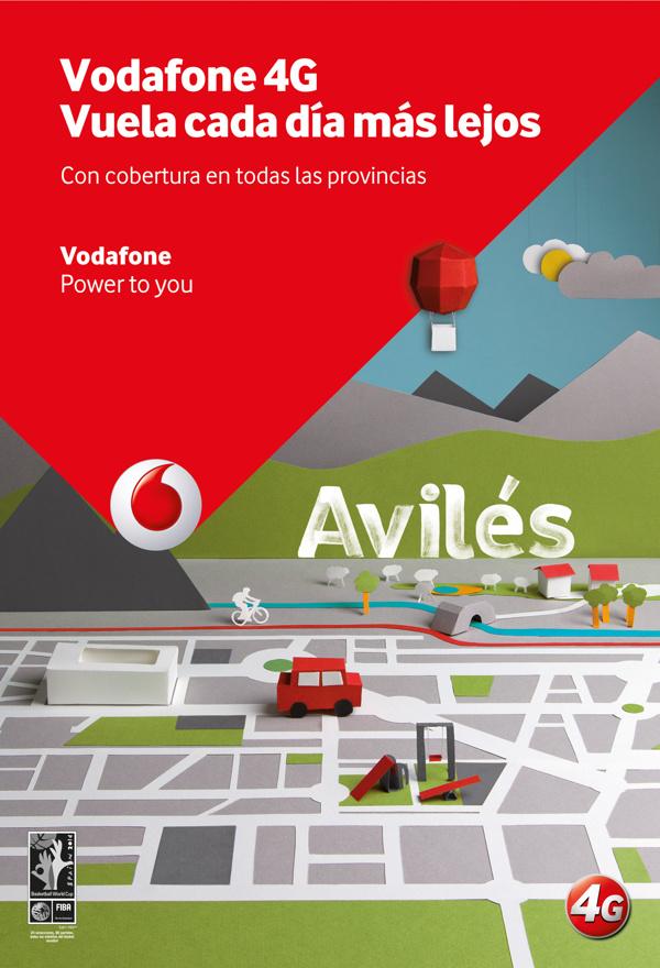 Ilustración para cartel publicitario para Vodafone