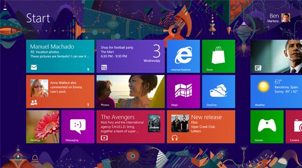 Ilustración para el fondo de Windows 8