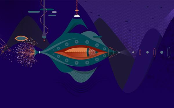 Detalle de la ilustración para el fondo de Windows 8