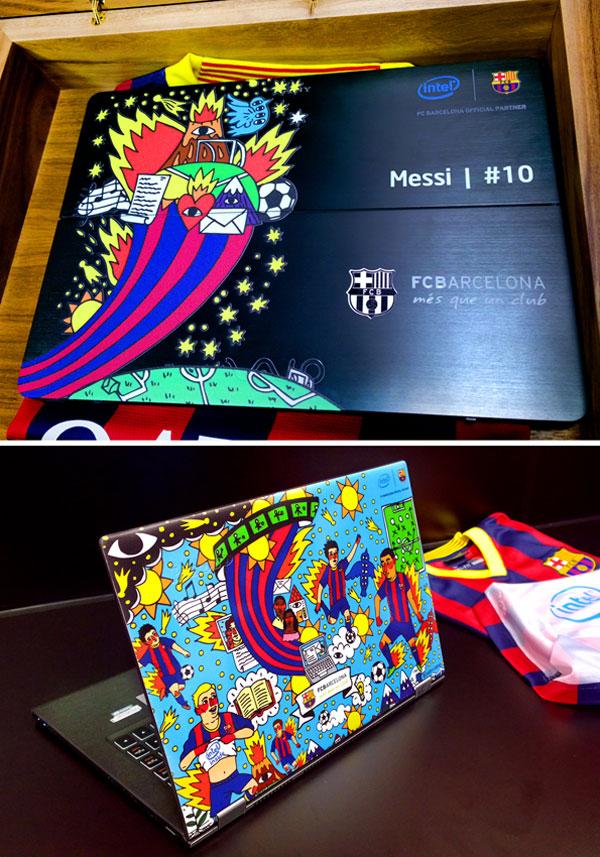 Ilustración para portátiles para el FC Barcelona